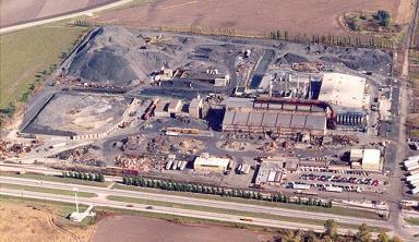 Aerial photo of Chemetco site
